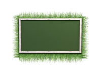 Background of grass and frame Stock Images