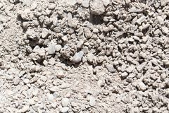 Background of gravel and sand . Stock Images
