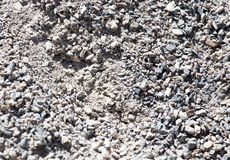 Background of gravel and sand . Royalty Free Stock Image