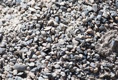 Background of gravel and sand . Royalty Free Stock Photo