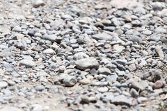 Background of gravel and sand . Royalty Free Stock Photography