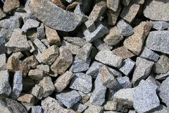 Background - Gravel Texture Royalty Free Stock Photography