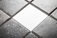 Background of gray ceramic tiles Royalty Free Stock Image