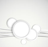 Background with gray circles Stock Photography