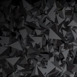 Background with gray 3d triangles. Gray abstract background with 3d triangles. Vector geometric illustration Vector Illustration
