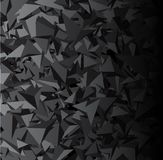 Background with gray 3d triangles. Gray abstract background with 3d triangles. Vector geometric illustration.r Stock Illustration