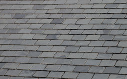 Slate tiled roof Stock Image