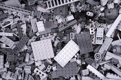 Background of gray Lego bricks Stock Image