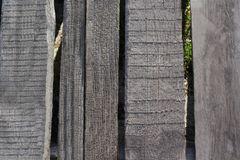 Background of gray natural wood planks Royalty Free Stock Photos