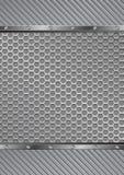 Background. Gray textured  metallic background - vector illustration Stock Photo