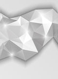 Background with gray triangles. Abstract illustration Royalty Free Stock Photography