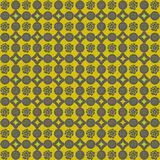 Background of gray and yellow flower pattern Royalty Free Stock Photos
