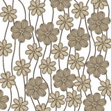 Background in grayscale of creepers with flowers Royalty Free Stock Images