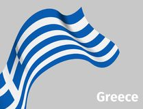 Background with Greece wavy flag Royalty Free Stock Images