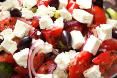 Background of greek salad fresh vegetable Stock Images