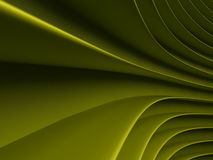 Background of green abstract waves. render. Background of green 3d abstract waves. render Stock Photos