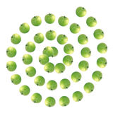Background of green apples royalty free stock photo