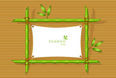 Background with green bamboo frame Royalty Free Stock Photography
