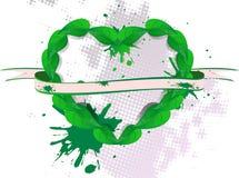 Background green banner petal Stock Photos