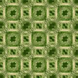 Background with green and beige gritty square patterns, modern grunge  ornament for textile Stock Photo