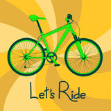 Background with green bicycle Royalty Free Stock Photography