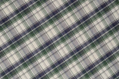 Green and Blue Plaid. High Resolution Image of Black ,Green,and White Plaid Cloth Shot in Studio Stock Photos