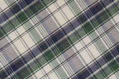 Green and White Plaid Stock Photo