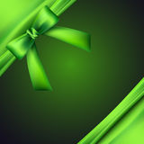 Background with green bow Stock Images