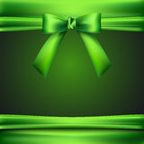 Background with green bow Stock Photography