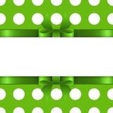 Background with green bow Stock Photo