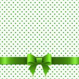 Background with green bow Royalty Free Stock Photo