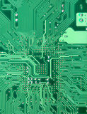 Background from green circuit board close up Stock Image