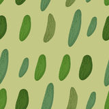 Background of green cucumber. Vector seamless pattern of vegetab Stock Photography