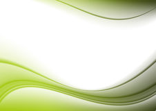 Background green curves. Stock Photos