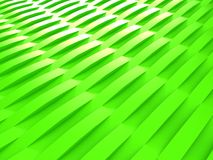 Background of green 3d abstract waves. Render Stock Photo