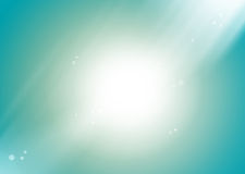 Background Green Deep sea. Water,bubbles and light background cartoon Royalty Free Stock Image