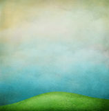 Background with green fields Royalty Free Stock Photo