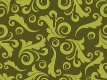 Background with green floral Stock Images