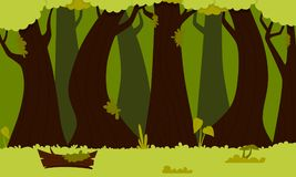 Background green forest. Flat design. Vector illustration Stock Photography