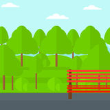 Background of green forest. Stock Images