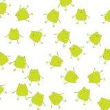 Background with green frogs Stock Photography