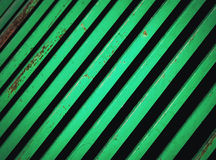 Background green grid of strip steel Stock Image