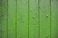 Background. Green harvest, old boards. Old painted wooden door in green colour Royalty Free Stock Images
