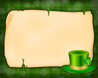 Background with green hat Stock Image
