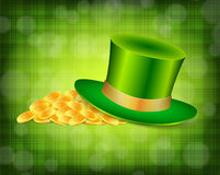 Background with green hat Stock Images
