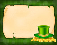Background with green hat Royalty Free Stock Photo