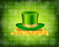 Background with green hat Royalty Free Stock Image
