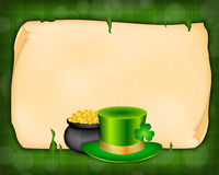 Background with green hat Royalty Free Stock Images