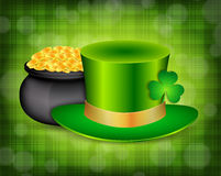 Background with green hat Stock Photo