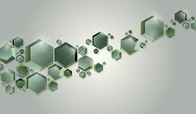 Background with green hexagons. Abstract background with green hexagons stock illustration